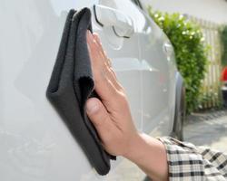 bilvård - polering av bilar foto