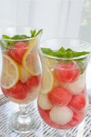 vattenmelonmelon dryck foto