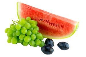 druvor, vattenmelon och plommon foto