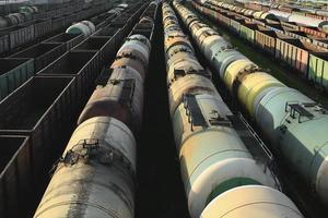 tåg, industriellt godståg foto