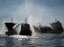 sökning och räddning: akut oljetankfartyg, kemisk katastrof foto
