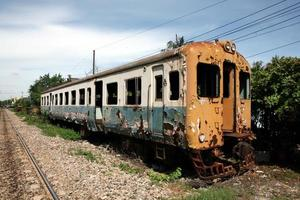 övergivet tåg