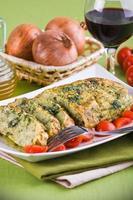 grönsaksköttfärslimpa. foto