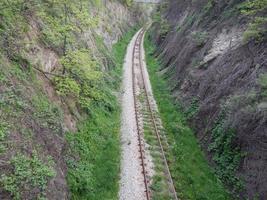 gammal järnväg foto