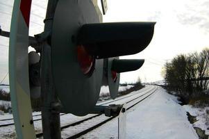 järnvägskorsning foto