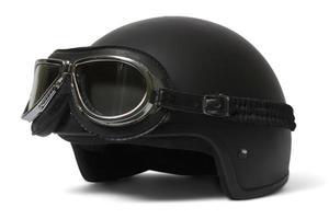 hjälm och skyddsglasögon foto