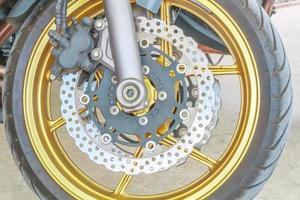 motorcykel skivbromsar. foto