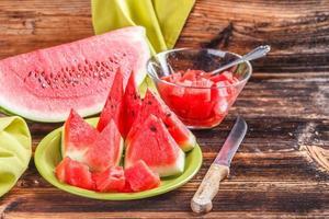 stilleben för vattenmelon foto