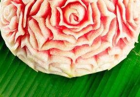 närbild av sniden vattenmelon foto