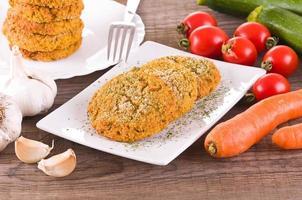 grönsakshamburger. foto