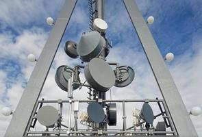 telekommunikationsantenner foto