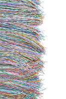 färgade telekommunikationskablar och kablar foto