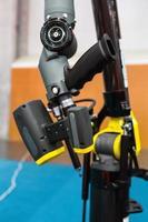 industriell robotarm foto
