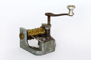 carillon - mini musikspelare på vit bakgrund foto