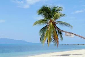 landmärke på baan tai beach koh samui island, thailand foto