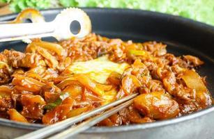 koreansk grillköttbulgogi foto