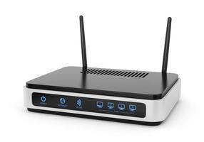 illustration av wi-fi-router foto