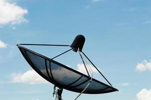 nätverk för kommunikationsteknik för parabolantenn foto
