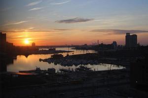 baltimore innerhamn solnedgång 2
