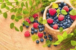 hallon och blåbär foto