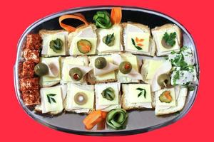 mini smörgåsar foto