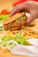 kycklingsmörgås foto