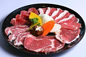 färskt rå köttbakgrund foto