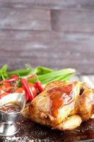 rostad kyckling foto