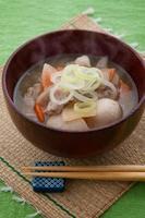 japansk mat, tonjiru foto
