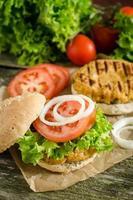 vegetariska hamburgare / vege-hamburgare foto