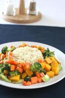 ris & grönsaker foto
