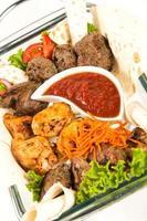 kött med grönsaker foto