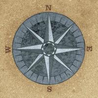 trottoar kompass foto