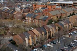 Flygfoto över grannskapet 2 foto