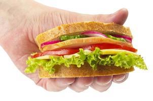 fick skinkasmörgås foto