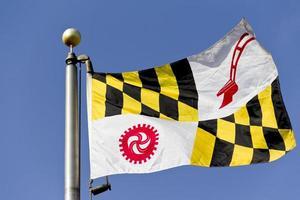 flagga av baltimore län maryland foto