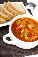 letcho med paprika, zucchini och champignonsvamp foto