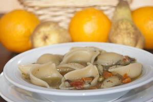 minestrone av pasta foto