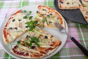 vegeterisk pizza foto
