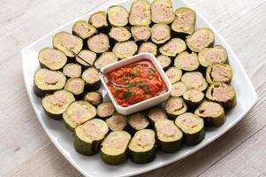fylld zucchini foto