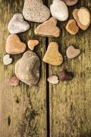 hjärtformade stenar foto