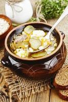 soppa med pickles och korn foto