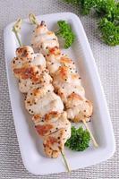 kyckling shish kebab foto