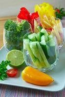 skivade grönsaker foto