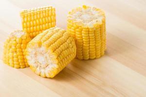 korn av mogen majs foto
