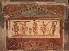 fresco på pompeii foto