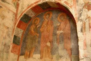 fresco av helgonet nicholas kyrka (kalkon) foto