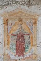 barock fresco med madonna och änglar foto
