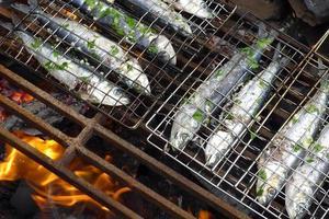 sardiner på bbq foto