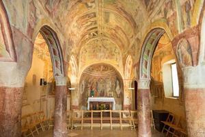 danse macabre fresco, hrastovlje, Slovenien. foto